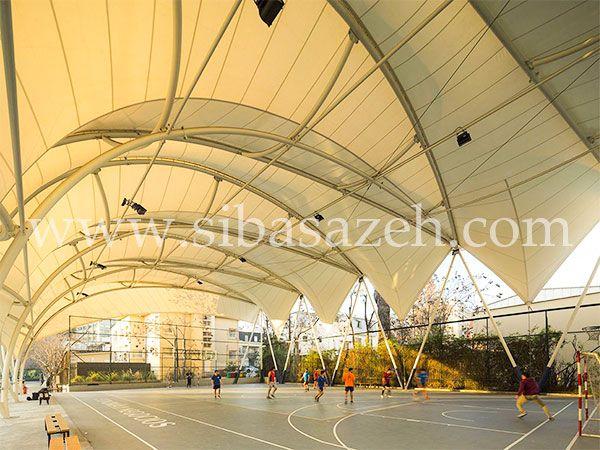 سازه چادری برای ورزشگاه